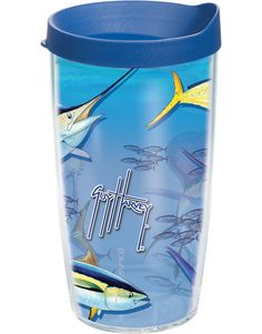 Tervis Guy Harvey Big Game Wrap Tumbler with Blue Lid,