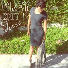 🐨GREY KNIT DRESS🐨 📦 WANT TO SAVE MORE?   $15🔛🅿️🅿️shppd📦📦BUNDLE & SAVE! I bundle with @mtorres84 closet! 📦 ***Ask about ♏️ercari!*** one clothing Dresses Midi