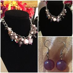 Bubble necklace and earring set Discounted Bundles ▪️Please use the offer feature  ▪️Ships within 24 hours ✈️ ▪️No tradesNo Paypal ▪️ Love the item but not the price?  Make an offer!  ▪️Questions?  Don't be shy!  Feel free to ask  ▪️Condition - NWOT  ▪️Size - One size ▪️Material - Mixed ▪️Description - Stunning bubble necklace on a silver tone chain link setting.  All beads vary in color shape and texture to make one captivating piece.  Matching pair of earrings are included to complete the…