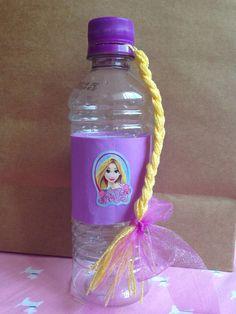 Water bottle Rapunzel birthday party
