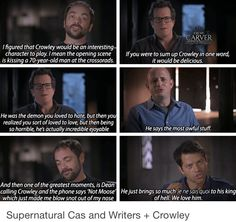 SPN cast and directors on Crowley.