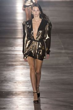 '80s Babies From metallics to mini lengths, sequins and strong shoulders—houses from Saint Laurent to Vuitton are taking time machines back to the Reagan era.