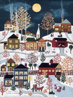 Moonlight In Vermont - Folk artist Medana Gabbard
