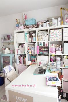 Working From Home - The Craft Room Diary at hearthandmadeuk