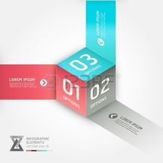 Modern cube origami style options banner. Vector illustration. can be used for workflow layout, diagram, number options, step up options, web design, infographics.: