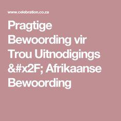 Opsoek na 'n Afrikaanse elektroniese uitnodiging? Sien jy ...