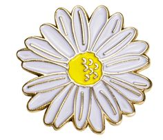 New Daisy pins now available #daisy #flowers #pinbadges #enamelpins #pingame