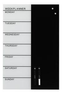 Magnetic Glass Board Weekly Planner