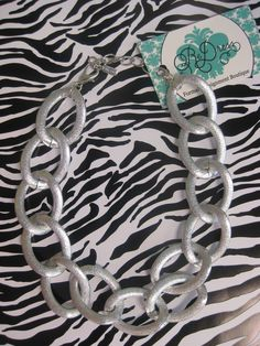 Silver Chain Link Necklace  $18