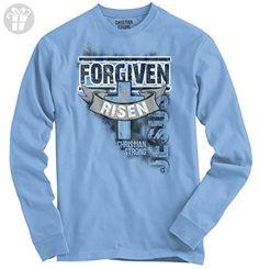 Forgiven And Risen Christian T Shirts Jesus Christ Gift Ideas Long Sleeve Tee - Birthday shirts (*Amazon Partner-Link)