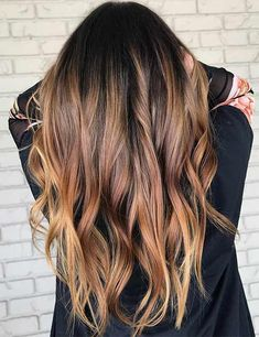 Black Coffee Hair With Ombre Highlights - 10 Cool Ideas of Coffee Brown Hair Color - The Trending Hairstyle Golden Brown Hair Color, Brown Hair Shades, Hair Color Dark, Light Brown Hair, Ombre Hair Color, Brown Hair Colors, Dark Hair, Reddish Brown, Hair Colour