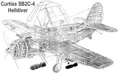 Historical combat aircraft reference of World War 2 - Curtiss 'Helldiver' Navy Aircraft, Ww2 Aircraft, Lockheed P 38 Lightning, Airplane Drawing, Air Fighter, P51 Mustang, Ww2 Planes, Dog Fighting, Aircraft Design