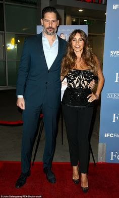Date night: Joe Manganiello supports wife Sofia Vergara at the red carpet premiere of her film The Female Brain in Los Angeles on Thursday