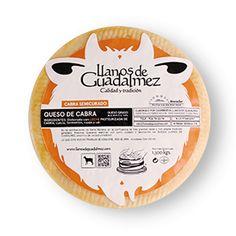Queso Semicurado elaborado con Leche de Cabra Pasteurizada de Guadalmez