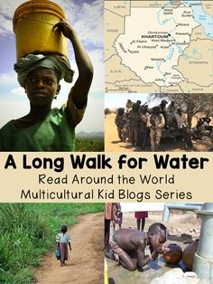 Language Arts: A Long Walk to Water. Great resources (videos and books) for a global water unit. Teaching Reading, Guided Reading, Teaching Kids, Learning, Literature Circles, Children's Literature, Long Walk To Water, Water Pollution, World Geography