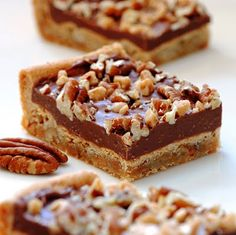 Jules Food - CHOCOLATE TOFFEE PECAN BARS >> These look delicious!