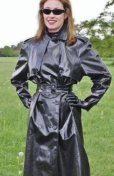 Raincoats For Women Polka Dots Vinyl Raincoat, Plastic Raincoat, Plastic Pants, Hooded Raincoat, Raincoats For Women, Jackets For Women, Mackintosh Raincoat, Black Mac, Rain