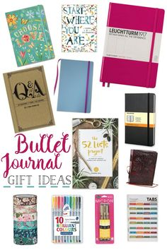 Gift a bullet journal or inspirational notebook this year to inspire productivity! Whether you sketch, write to-do lists, or brain dump, invest in these journal gift ideas!