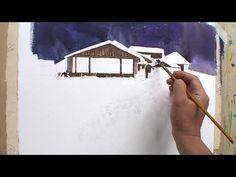 36 소나무가 있는 풍경 - YouTube Watercolor Portraits, Watercolor Paintings, Winter Photos, Watercolour Tutorials, Architecture, Drawings, Artist, Paintings, Paper
