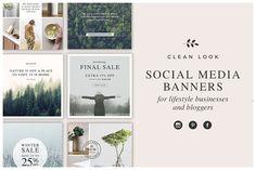 Social Media Banners by White Box Design Studio on @creativemarket