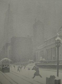 Ellison Hoover, New York Snow Storm, c.1940