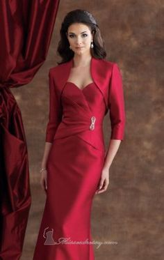 Silk Shantung Dress by Mon Cheri Montage 110924