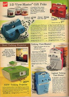 View Master Ad from the 1974 Montgomery Ward Christmas Catalog