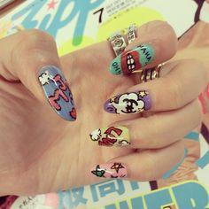 pop art nail