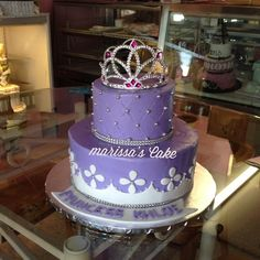 Sophia the first birthday cake. Visit us Facebook.com/marissa'scake or www.marissa'scake.com
