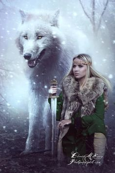 A warrior with her Wolf on a Full Moon is invincible