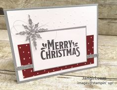 Stampin Up Be Merry and Merry Mistletoes Christmas card