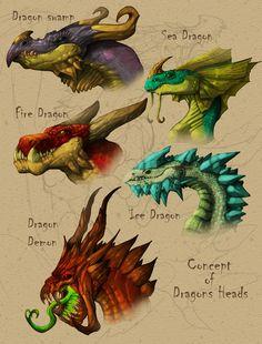 atamajakki: Dragon busts from Pathfinder: Dragons Revisite Dragon Images, Dragon Pictures, Magical Creatures, Fantasy Creatures, High Fantasy, Fantasy Art, Design Dragon, Magia Elemental, Dragon Zodiac