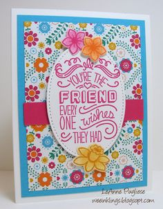 LeAnne Pugliese WeeInklings Friendly Phrases Basket Bunch Stampin Up