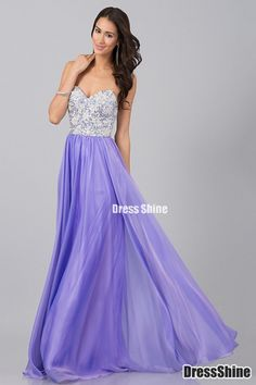 2015 lovely sweetheart chiffon + silver lace long purple prom dress for teens, evening dress, formal dress, homecoming #prom #wedding #prom2015