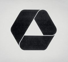 Retro Corporate Logo This design is ok but when i look at it i think of the recycle logo. 2 Logo, Typography Logo, Op Art, Arte Yin Yang, Logo Luxury, Gfx Design, Icon Design, Logo Desing, Calvin Klein Logo