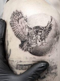 owl tattoo © Zlata Kolomoyskaya #AnimalTattoos