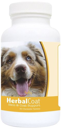Healthy Breeds Australian Shepherd Natural Skin/Coat Support for Dogs 60Count *** Visit the image link more details. (This is an affiliate link and I receive a commission for the sales)