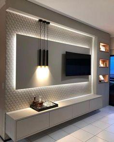 Tv Unit Interior Design, Tv Wall Design, Interior Design Living Room, Living Room Designs, Living Room Decor, Bedroom Tv Unit Design, Interior Work, Ceiling Design, Room Interior