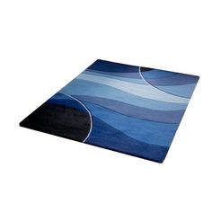 Swirl design blue rug. £114.99 http://www.worldstores.co.uk/p/Oriental_Carpets_Metro_Blue_Rug.htm