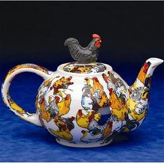 The Twiggery - Tea Party - rooster teapot, roosters teapot