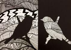 grade art, seventh grade, art for kids, kids art class, middle school a 7th Grade Art, Seventh Grade, 30 Day Art Challenge, Negative Space Art, Classe D'art, Middle School Art Projects, Animal Art Projects, Kids Art Class, Quilt Art