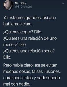 Hablando claro! Tumblr Quotes, Sad Quotes, Qoutes, Love Quotes, Inspirational Quotes, Funny Phrases, Joy Of Life, True Feelings, Spanish Quotes