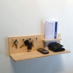 Items similar to Objectify Stuff Central - Plywood Wall Organiser on Etsy Plywood Walls, Pine Plywood, Plywood Projects, Floating Shelves, Wood Crafts, Household, Decoration, Etsy, Home Decor