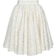Giambattista Valli Light Mohair Wheel Skirt ($2,245) ❤ liked on Polyvore featuring skirts, high waisted circle skirt, giambattista valli skirt, circular skirt, high rise skirts y giambattista valli