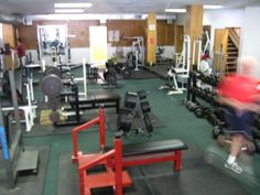 Pre Re-modeled Fitness Center or our old Gym