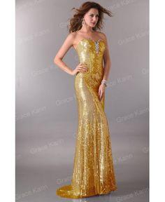 Večerné šaty Jennifer zlaté