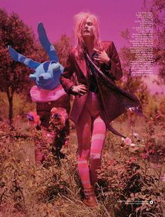 Tim Walker take Malgosia Bela on a magical mystery tour through the Autumn/Winter 2012 collections for the December issue of British Vogue.