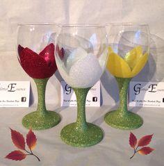 Gorgeous flower glasses