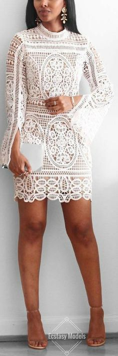 How To Wear White Dress Classy Summer Outfits 33 Ideas Trendy Dresses, Cute Dresses, Beautiful Dresses, Short Dresses, Cute Outfits, Summer Dresses, White Fashion, Look Fashion, Womens Fashion