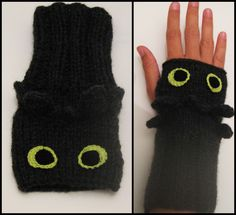 Toothless Wrist Warmers by Hope555.deviantart.com on @deviantART. I could make these so easy!!!